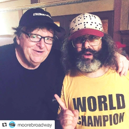 Michael Moore and Judah Friedlander