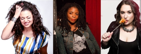 Michelle Buteau, Janelle James, and Liza Treyger