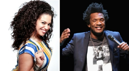 Michelle Buteau and Seaton Smith