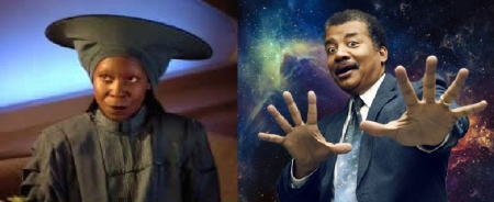 Whoopi Goldberg and Neil deGrasse Tyson