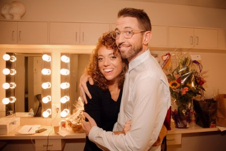 Michelle Wolf and Neal Brennan