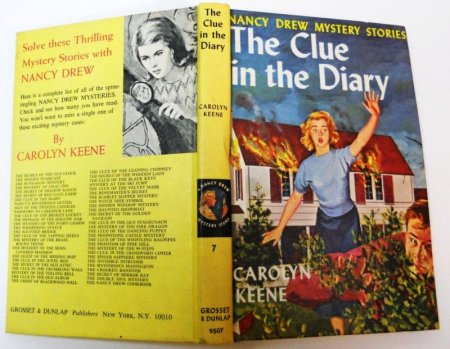 """Nancy Drew: The Clue in the Diary"" by Mildred Wirt Benson (a.k.a. Carolyn Keene)"