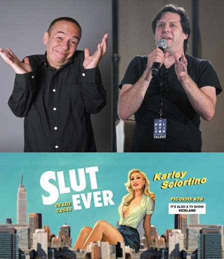 Gilbert Gottfried, Anthony Atamanuik, and Karley Sciortino