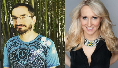 Myq Kaplan and Nikki Glaser