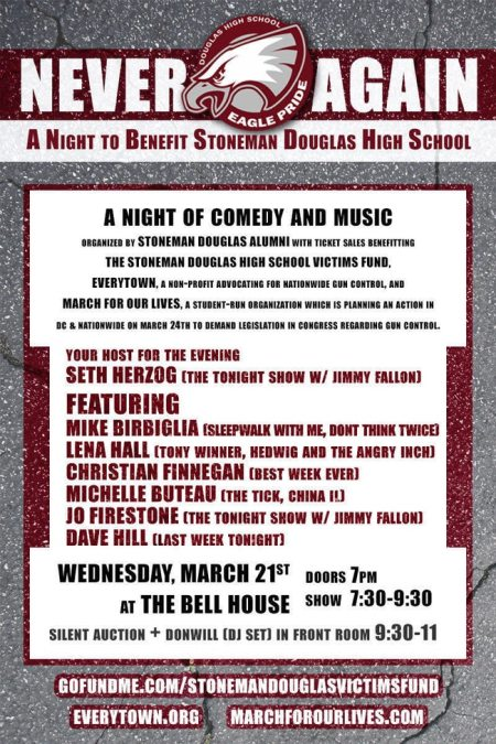 Never Again: A Night to Benefit Stoneman Douglas High School