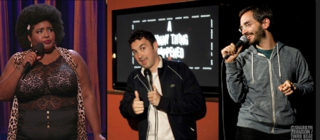 Dulce Sloan, Mark Normand, and Myq Kaplan