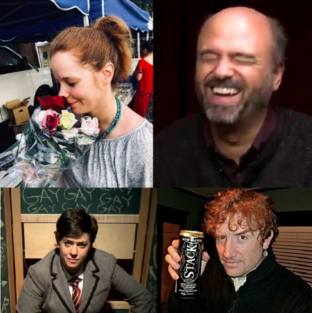 Julie Sharbutt, Scott Adsit, Becky Drysdale, and Brian Stack