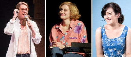 Morgan Miller, Jo Firestone, and Maeve Higgins