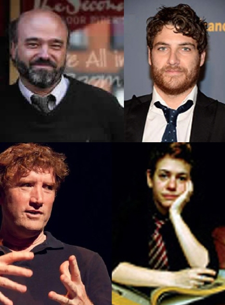 Scott Adsit, Adam Pally, Brian Stack, and Becky Drysdale