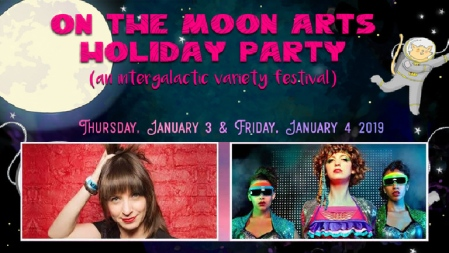 "Ophira Eisenberg and Adira Amram: ""On the Moon Arts Holiday Party"""