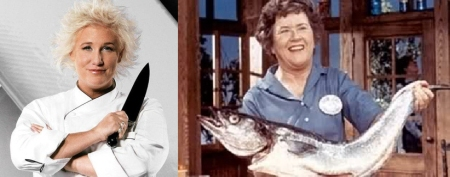 Anne Burrell and Julia Child