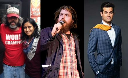 Judah Friedlander, Aparna Nancherla, Dan St Germain, and Michael Kosta