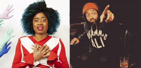 Phoebe Robinson and Wyatt Cenac