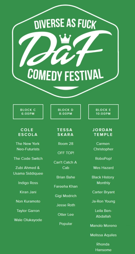 Diverse as Fuck Comedy Festival