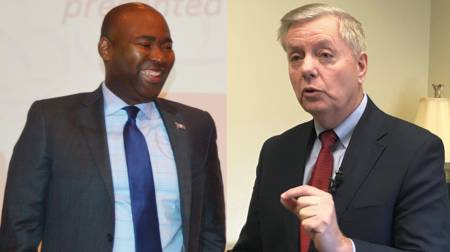 Jaime Harrison and Lindsey Graham