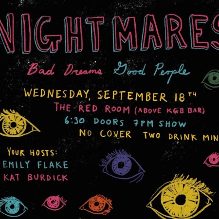 "Emily Flake & Kat Burdick: ""Nightmares: The Best People Tell Their Worst Dreams"""