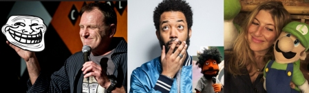 Colin Quinn, Wyatt Cenac, and Tara Summers