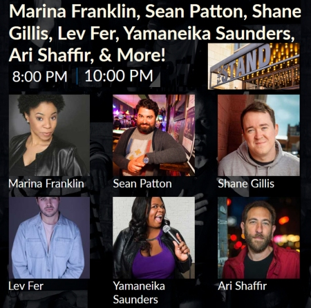 "Marina Franklin, Sean Patton,Ari Shaffir, and More: ""Stars at The Stand"""