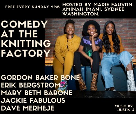 "Sydnee Washington, Marie Faustin, and Aminah Iman: ""Comedy Night at the Knit"""