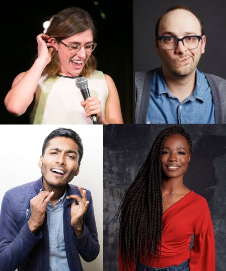Emmy Blotnick, Josh Gondelman, Usama Siddiquee, and Sydnee Washington