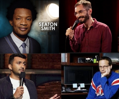 Seaton Smith, Myq Kaplan, Nimesh Patel, and Lenny Marcus:
