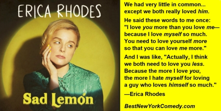 "Erica Rhodes: ""Sad Lemon"""