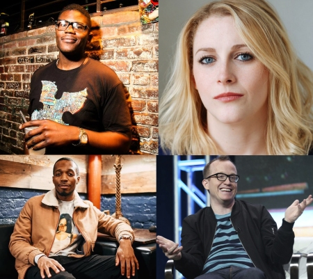 Monroe Martin, Devin Bockrath, Alex English, and Chris Gethard