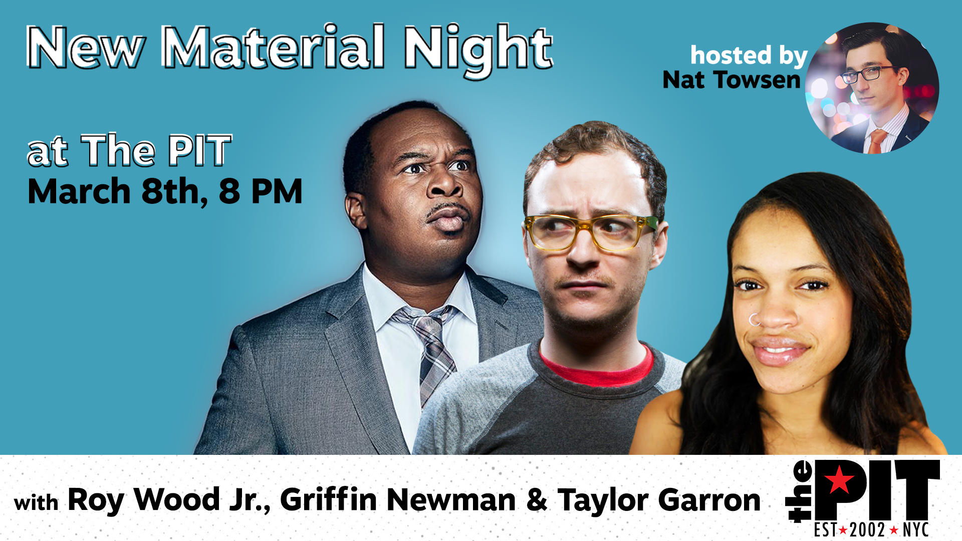 Roy Wood Jr., Griffin Newman, Taylor Garron, and Nat Towsen: